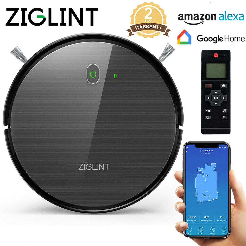 Ziglint D5 Aspirateur Robot AlexaGoogle Home Smart