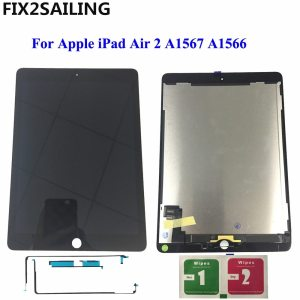 "9,7 ""LCD pour Apple iPad 6 Air 2 A1567 A1566 9,7"" '100% AAA + Grade LCD Écran Tactile Digitizer Assemblée Remplacement (Chine)"