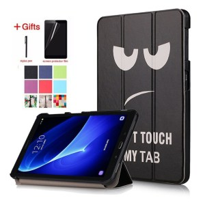 Stylo + Film pour Samsung Galaxy Tab A6 10.1 SM-T580 Etui Smart Cover pour Samsung Tab T580 T585 Tablette 10.1 pouces Funda Capa (Chine)
